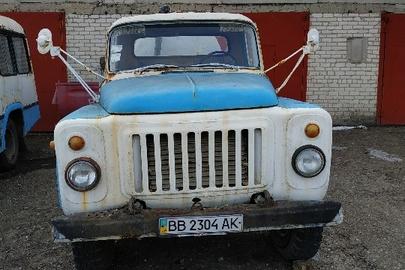 Вантажний автомобіль ГАЗ 5319 (цистерна), 1990 р.в., білого кольору, ДНЗ ВВ2304АК, VIN : XTH531900L1288448