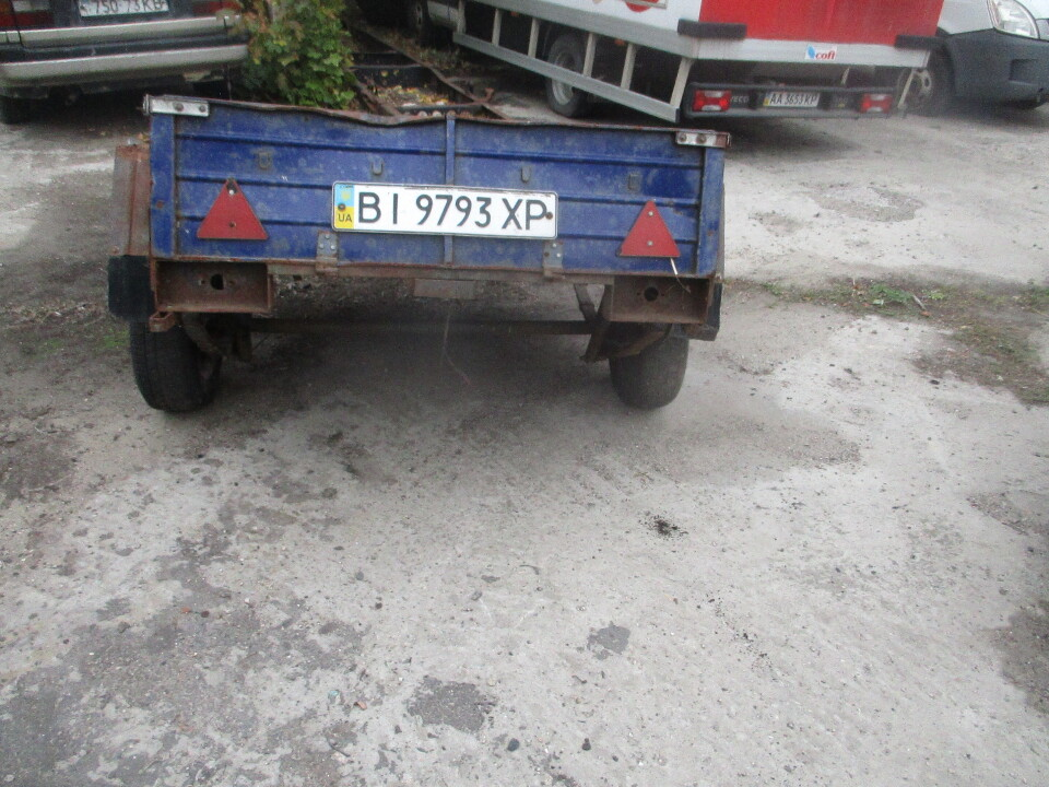 Причіп ПА-004, 2012 р.в, синього кольору ДНЗ ВІ9793ХР, № шасі С0021178