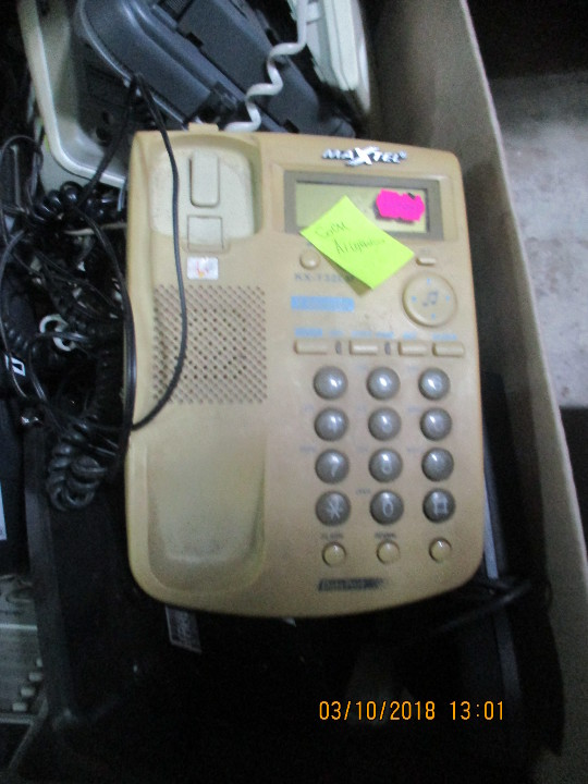 Телефон стаціонарний MAXTEL, KX - T32LM, жовтого кольору
