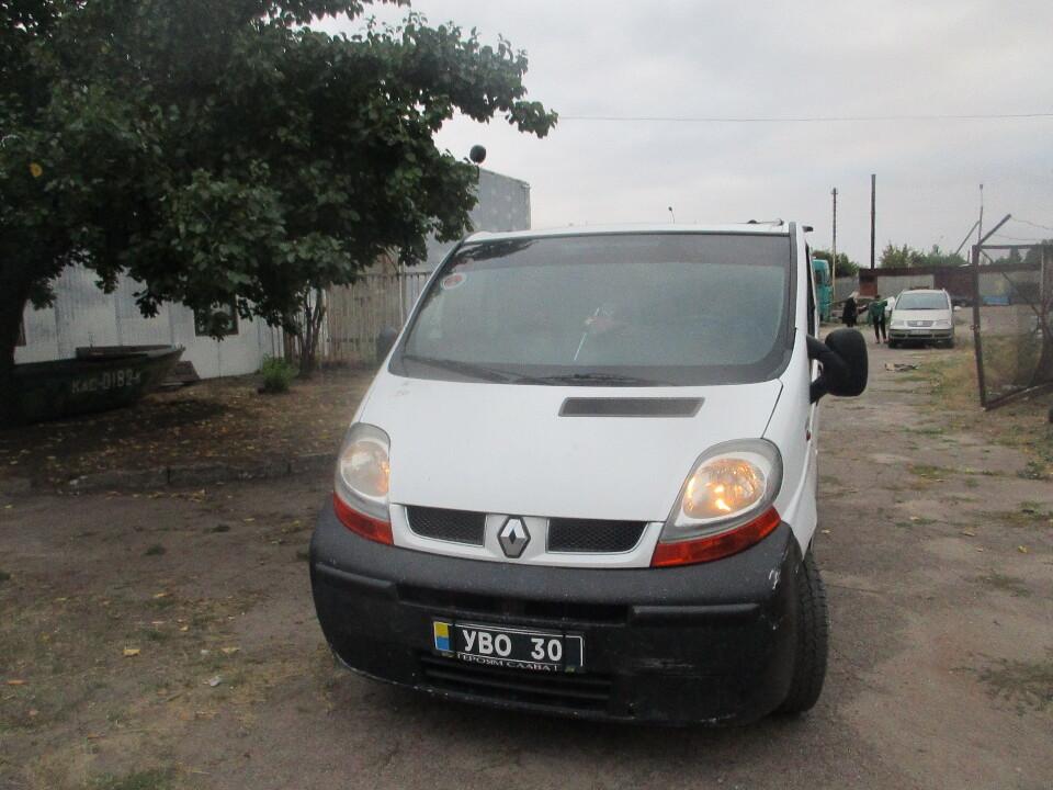 Митний конфіскат. Автотранспортний засіб RENAULT TRAFIC, № кузову: VF1FLADA66Y163900,  2006 р.в., білого кольору