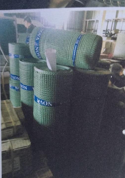 Садова сітка з вторинної пластмаси зеленого кольору, різних розмірів, у кількості 14 рулонів