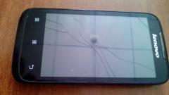 Мобільний телефон марки «Леново» із сім картою, шкіряна рукавичка