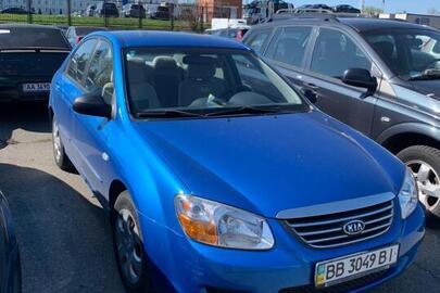 Транспортний засіб KIA CERATO, 2008 року випуску, синього кольору, ДНЗ: ВВ3049ВІ, VIN: KNEFE227285575294