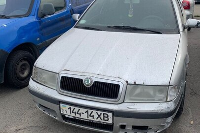 Транспортний засіб марки SKODA, модель OCTAVIA, шасі (кузов, рама) TMBBE41U638702879, 2003 року випуску, тип - легковий, колір - сірий, державний номер 14414ХВ