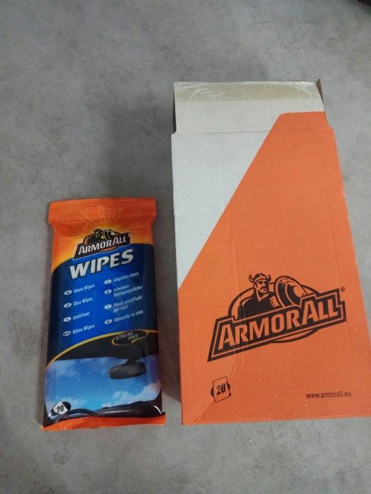 Серветки для скла в упаковці 20 шт, 13 коробок по 6 упаковок