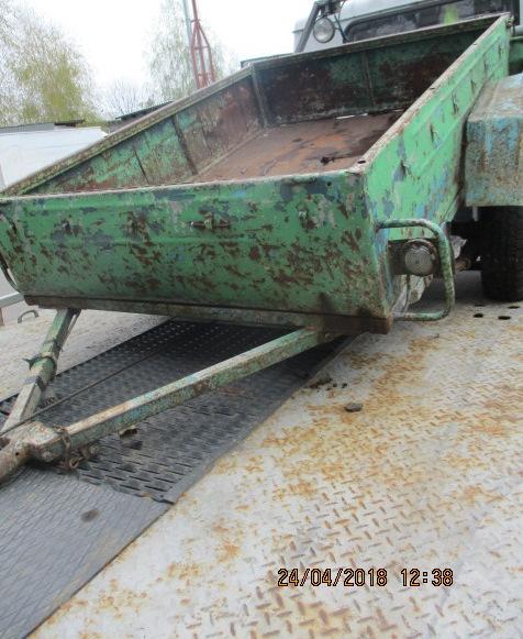 Причіп, зеленого кольору, ДНЗ 19183СК, шасі № 018290, 2003 року випуску