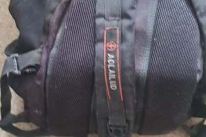 Рюкзак чорного кольору, б/у, конфіскований як речовий доказ по кримінальній справі, відповідно до рішення суду № 129/3343/15-к