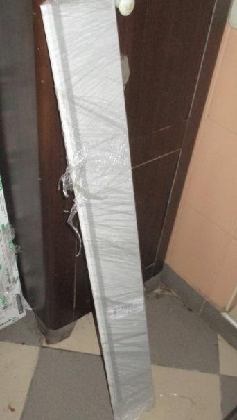 Відлив віконний оцинкований, 1100х100 мм, білого кольору - 2 шт.