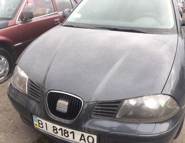 Колісний транспортний засіб: легковий седан - В, марки SEAT, модель Cordoba, ДНЗ ВІ8181АО,  рік випуску 2007, кузов № VSSZZZ6LZ8R000683, колір сірий