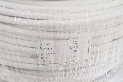 Дріт ПВС 3х1,0 довжиною 100 м в кількості 39 одиниць