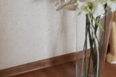 Ваза скляна (висотою 50 см)