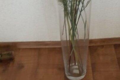 Ваза скляна (висотою 60 см)