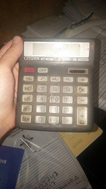 Калькулятор Citizen МТ-801