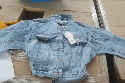 Куртки джинсові жіночі, годинники наручні, блискавки для одягу, біжутерія, обручі для волосся, рулони з сіткою, різних торгівельних марок, розмірів та кольорів -  18761 шт