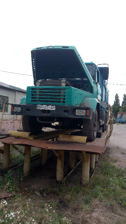 Колісний транспортний засіб КРАЗ 65055 (самоскид-С), колір зелений, реєстраційний номер  ВМ4231АР, 2007 року випуску, шасі №Y7А65055070806445