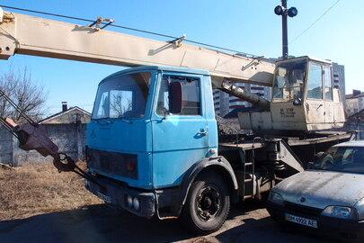 Спеціалізована техніка автокран 10-20т-С КС 3577 А на базі МАЗ, колір синій, реєстраційний номер ВМ6066АТ, 1993 р.в., №шасі ХТМ533700Р0020308