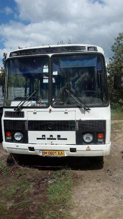 Транспортний засіб ПАЗ 32051 110 СПГ (автобус - D), колір білий, реєстраційний номер ВМ0801АА, рік випуску 2005, кузов №Х1М32051150004926