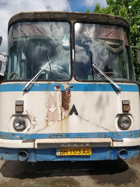 Транспортний засіб ЛАЗ 695Н СПГ (автобус - D), колір білий, реєстраційний номер ВМ1173АА, рік випуску 1996, кузов № 78965/5400G T174154