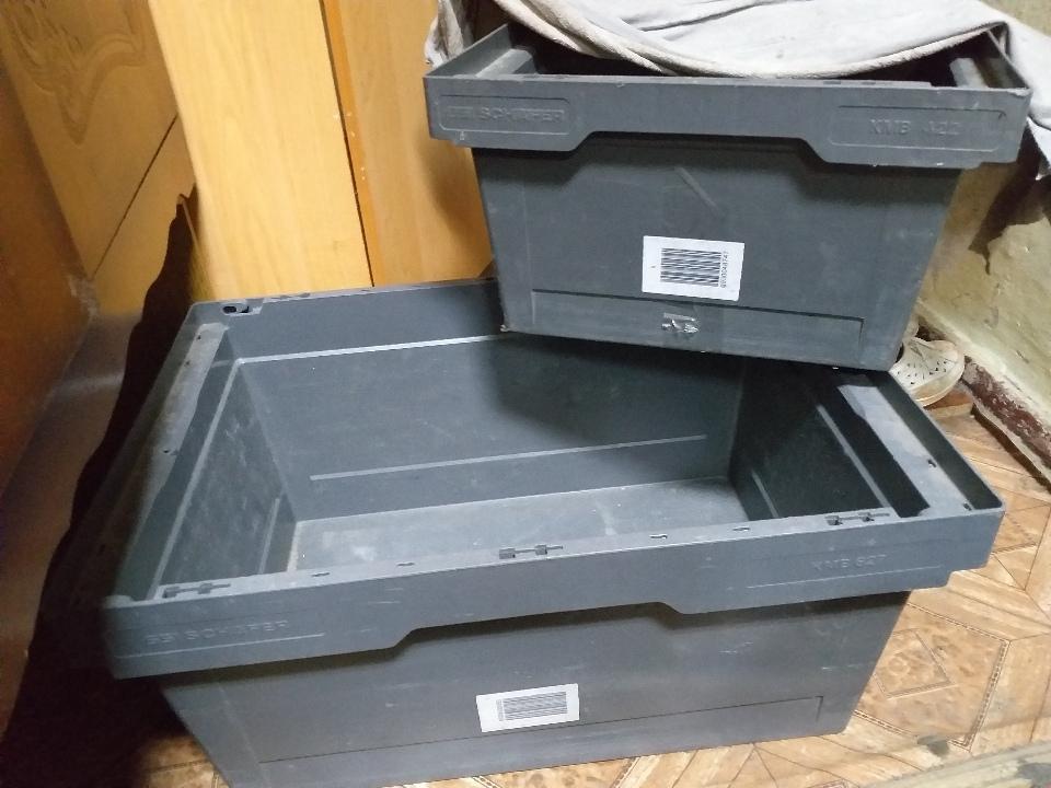 Ящик пластмасовий, в кількості 2 штуки, б/в